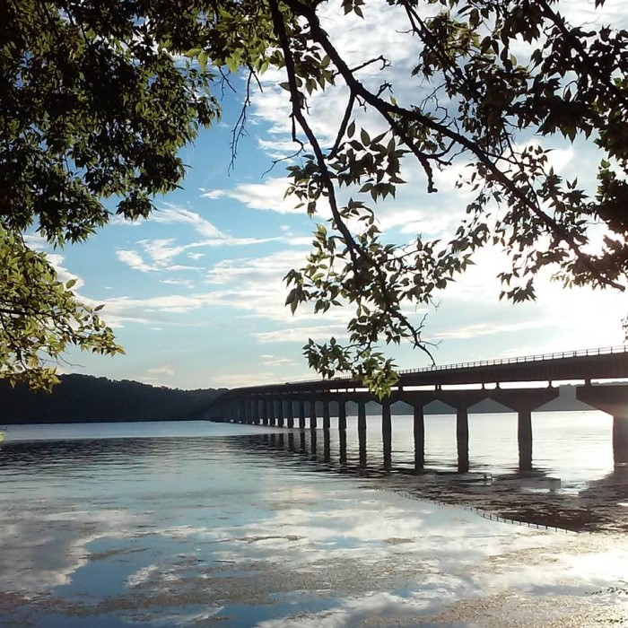 14. A beautiful view of the Tennessee River in Florence, Alabama.