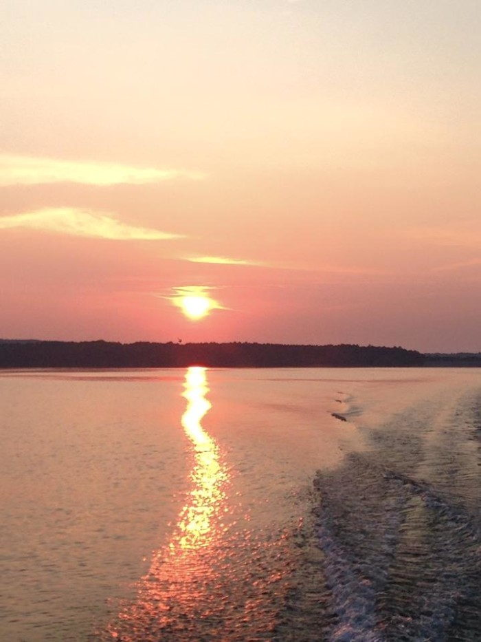 3. The sun dancing on Cedar Creek Lake in Franklin County.