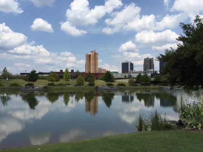 13. Railroad Park in Birmingham, Alabama.