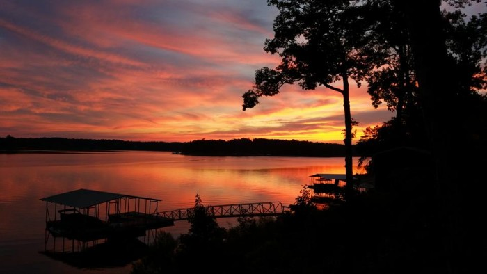 7. A lovely view of Smith Lake in Crane Hill, Alabama.