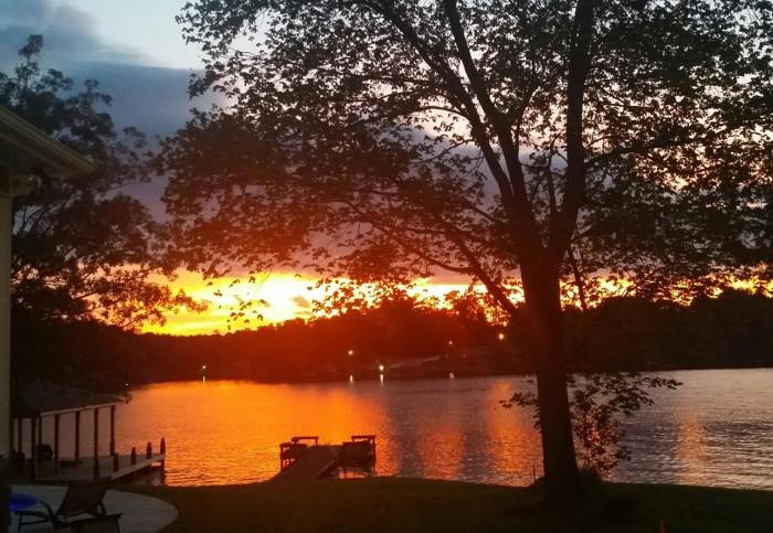 12. A captivating sunset over Lake Harding.