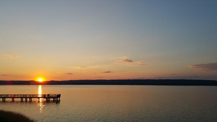 10. A lovely sunset  on Lake Guntersville.
