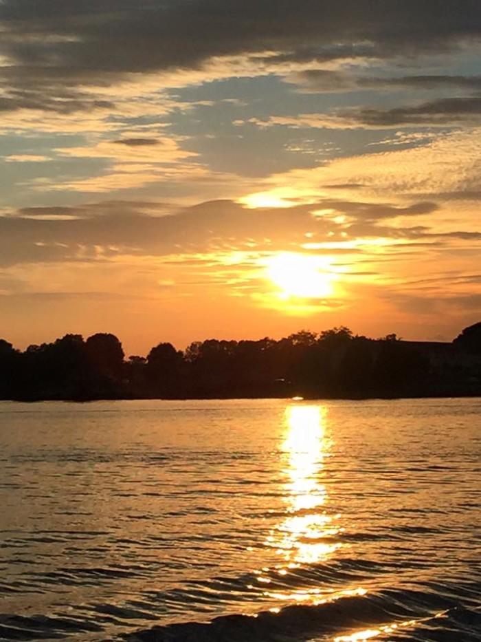14. A beautiful sunset on Logan Martin Lake.