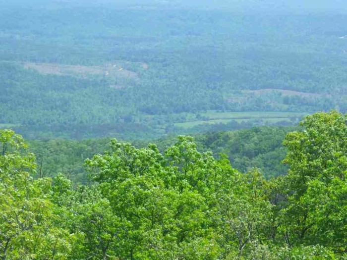 19. A fabulous view from atop Cheaha Mountain - Alabama's highest point.