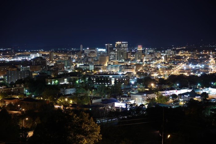 """2. A great nighttime view of """"The Magic City."""""""