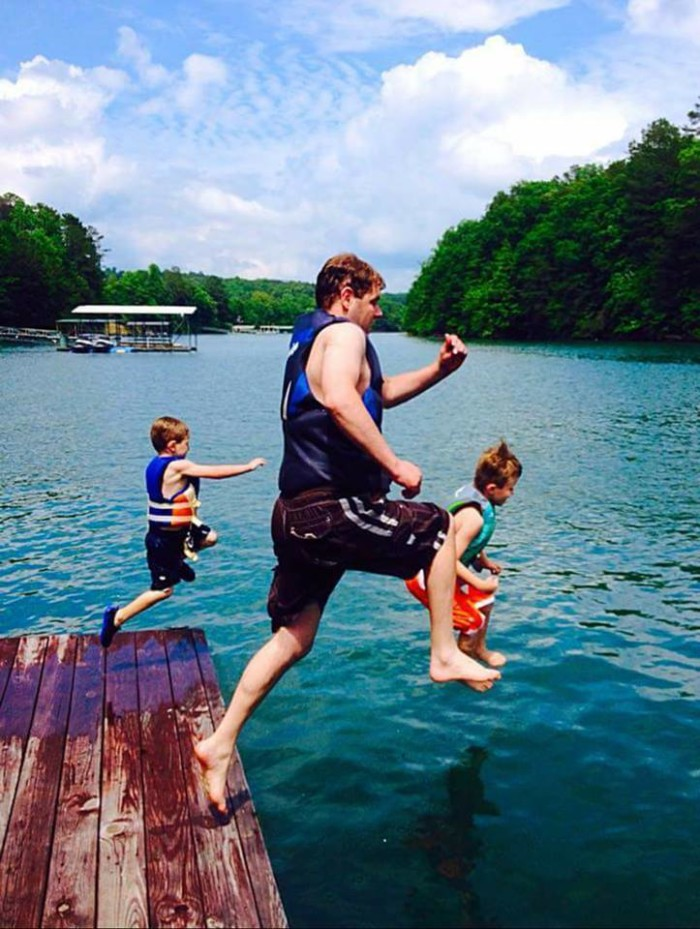 11. A fun family day on Smith Lake. This photo makes me wish it was still summer.