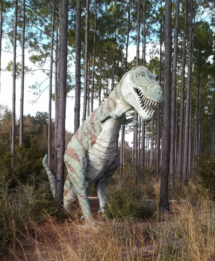 marina dinosaurs barber alabama al places visit weirdest elberta woods weird marvels dinosaur visitfoley foley seen onlyinyourstate