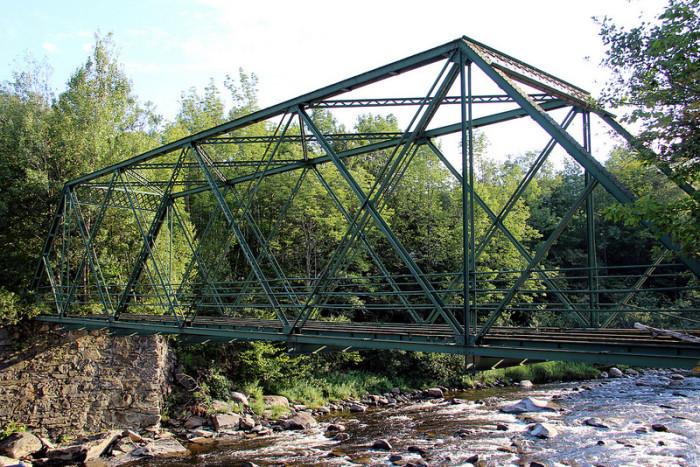 2.  Abandoned Medburyville Bridge over the Deerfield River in Wilmington.