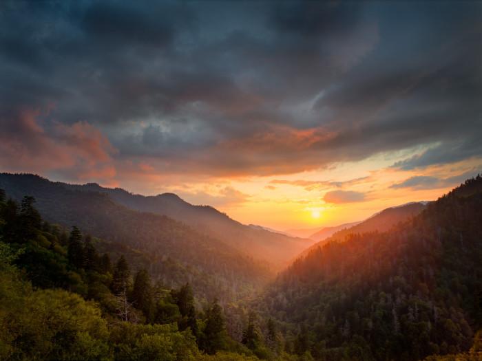 2) Smoky Mountain sunrise, anyone?