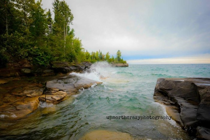 14) Andrea Mosley, from Up North Crazy Photography, captures Lake Superior at Christmas.