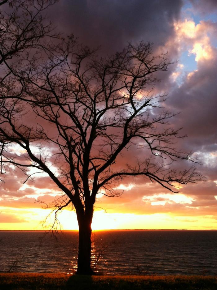 3. Approaching sunset in Newport News.