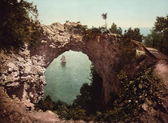 13) Arch Rock on Mackinac Island