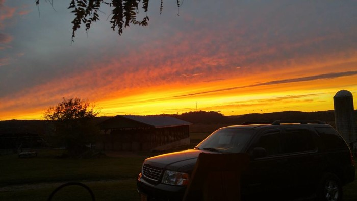 15) This bleeding orange sunset, captured by Ashlee Benton, makes us yearn for a quiet night in the country.