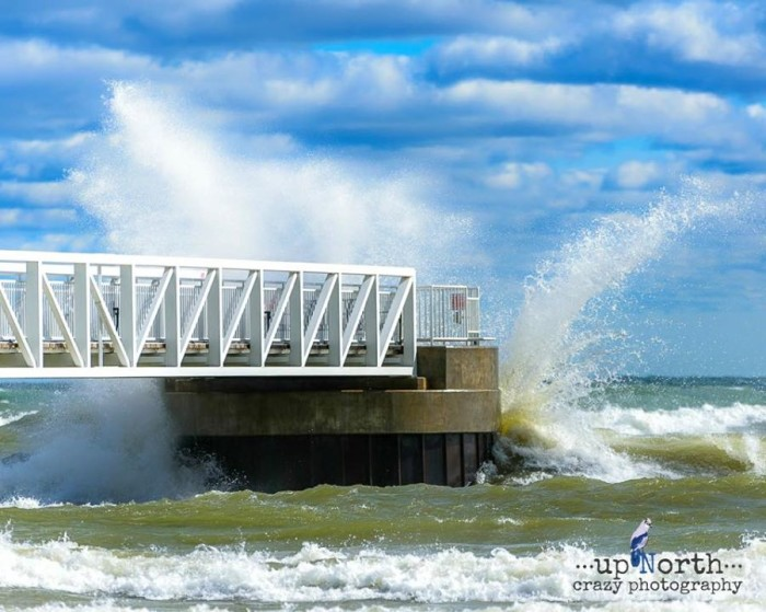 14) Up North Crazy Photography captured these huge waves at Oscoda Beach Park on Lake Huron.