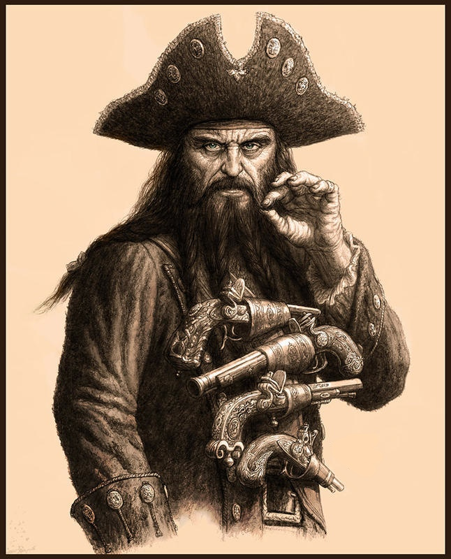 3. The pirates never left, especially the most merciless of them all, Blackbeard.