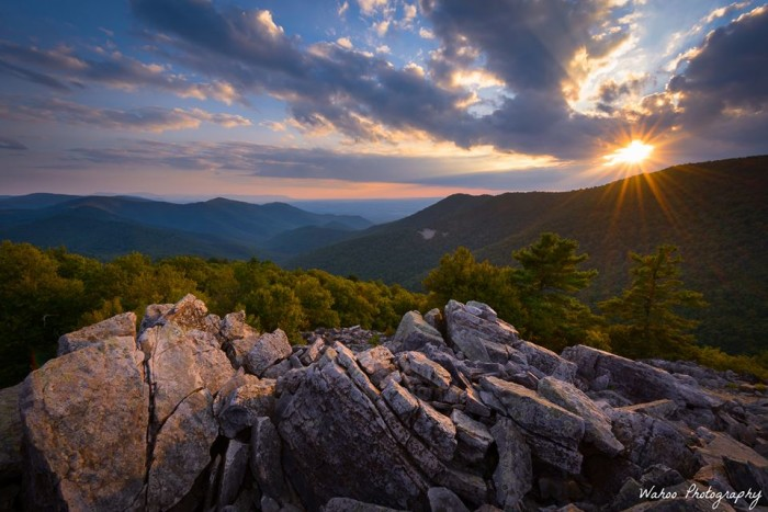 1. Sunset at Blackrock Summit in the Shenandoah National Park, submitted by Wahoo Photography.