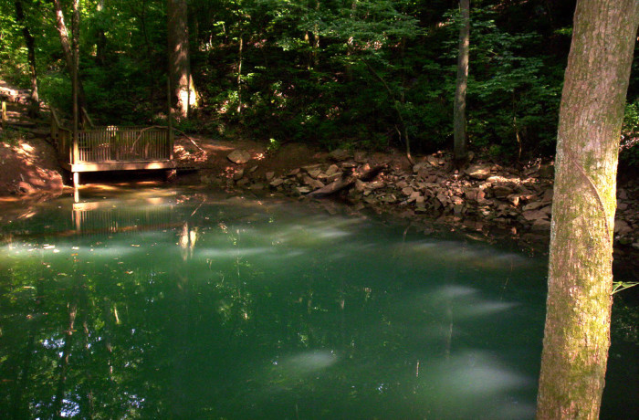 9. Blue pool at Lost River Cave