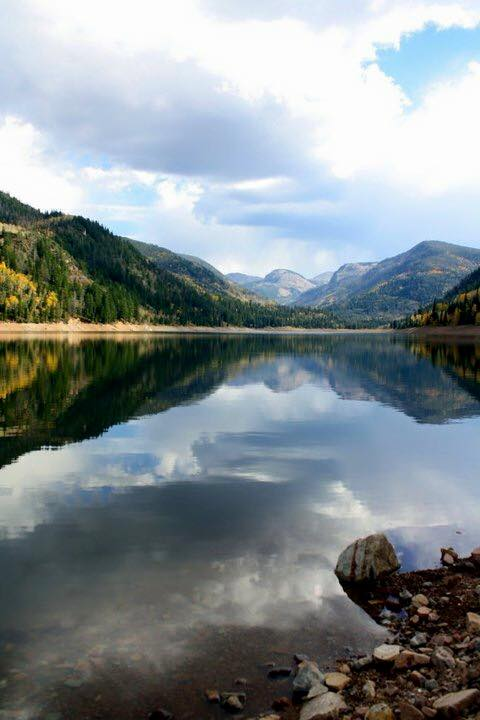 12. This perfect mirror image of Smith and Morehouse Reservoir was taken by Bobbie Maroney Tanner.