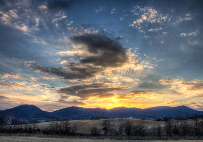 4. Botetourt County beauty at sunset.