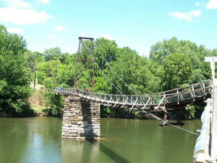 8. The Buchanan Swinging Bridge is captured in all its glory in this photo submitted by Kathleen Kathleen.