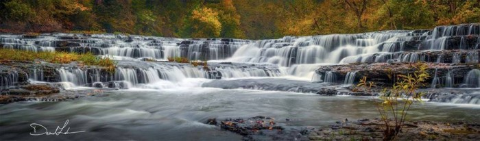 2) Here's Burgess Falls, looking real hot for Desmond Lake.