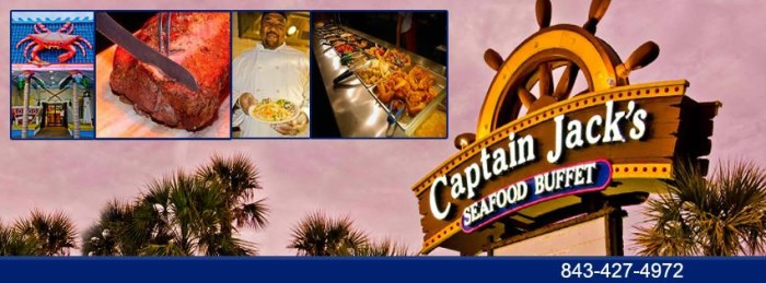 2. Captain Jack's Seafood Buffet, 1400 Hwy 17 S, North Myrtle Beach