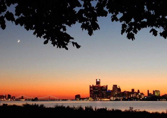 12) Carl Scott capturing the calm of Detroit from Belle Isle.