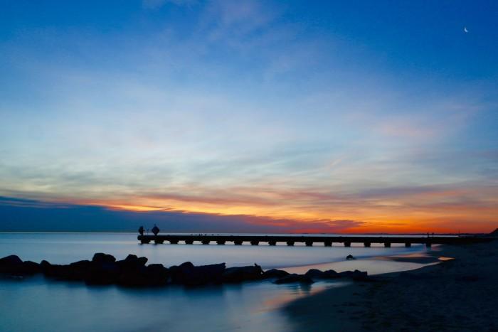 6. Sun over the Chesapeake Bay.
