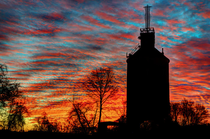 2. Coal Tower Silhouette in Charlottesville.