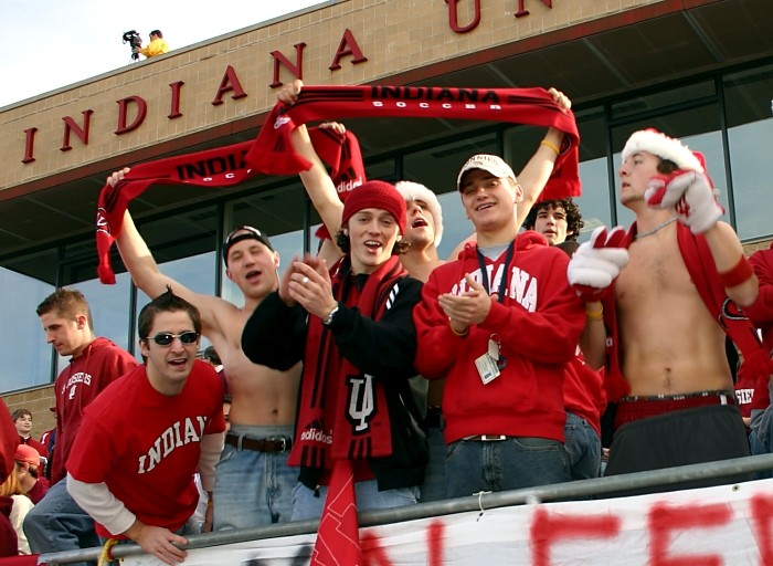 2. What is the different between Indiana sports fans and puppies?
