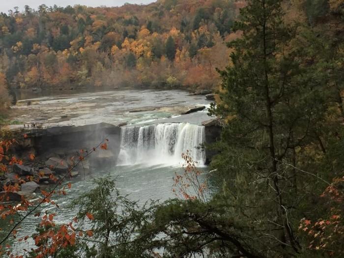 14. Cumberland Falls in October via Rick Farrington.