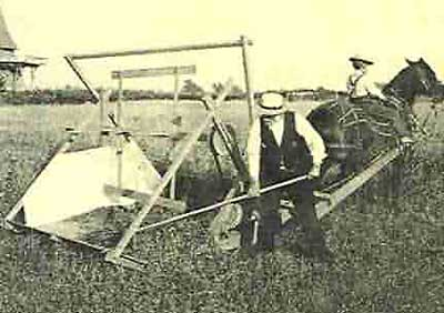 7. We changed the face of agricultural with the mechanical reaper for grain.