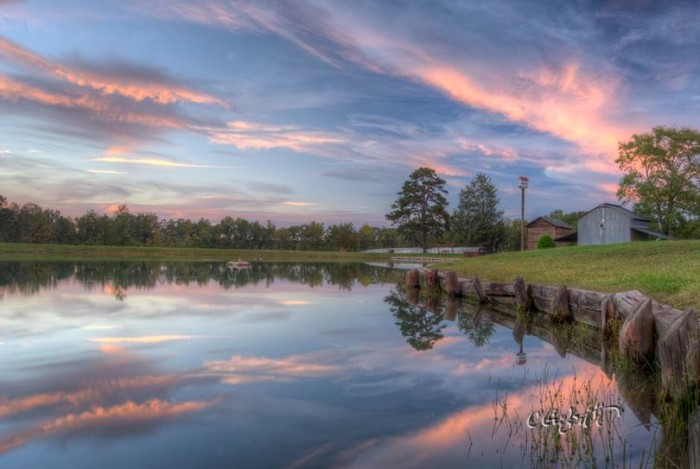 3. The mesmerizing reflection of this sunset just outside of Danville was beautifully captured by Charles Goforth.