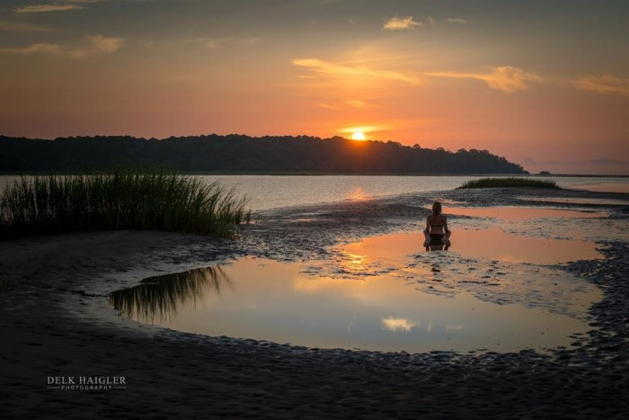 """6. Delk paints passion and love with his camera lens and it shows in this one known as """"Island Time"""" at Morgan Creek Sandbar."""