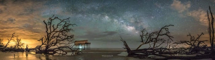 4. Look at how brilliant the Milky Way is that Delk captured in this photograph!