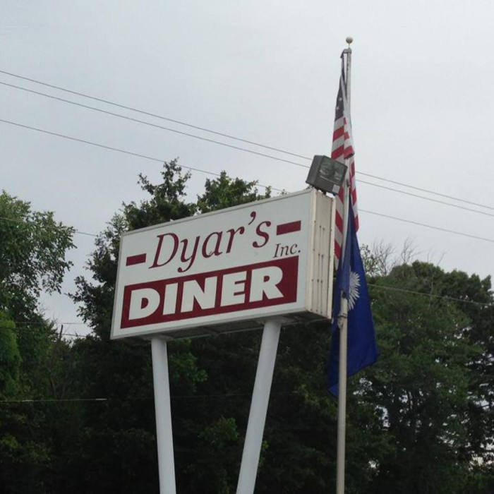 9. Dyar's Diner,  2216 Old Greenville Hwy, Pendleton