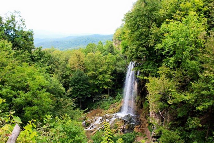 2. A breathtaking shot of Falling Springs Falls in Covington, submitted by Shonda Bourne.