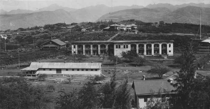 1) Fort Ruger, as photographed in 1914, served as the first military reservation in the Territory of Hawaii. The reservation is now on the National Register of Historic Places, though portions of the site are still used for training by the Hawaii National Guard.