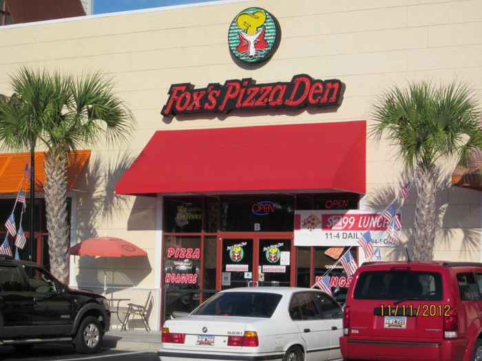 "6. Fox's Pizza Den - 30"" Pizza Challenge - 4620 Dick Pond Rd, Myrtle Beach"