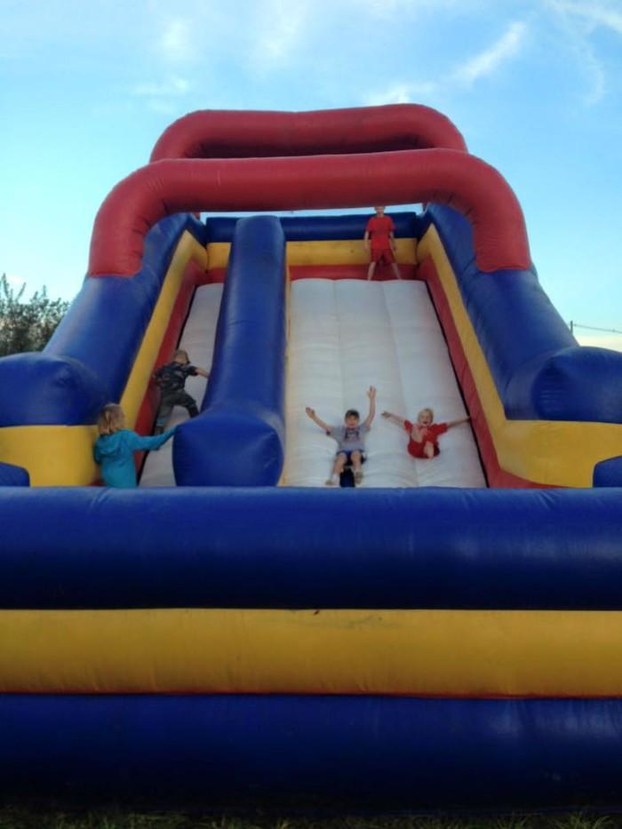 G and J Farms bouncy house