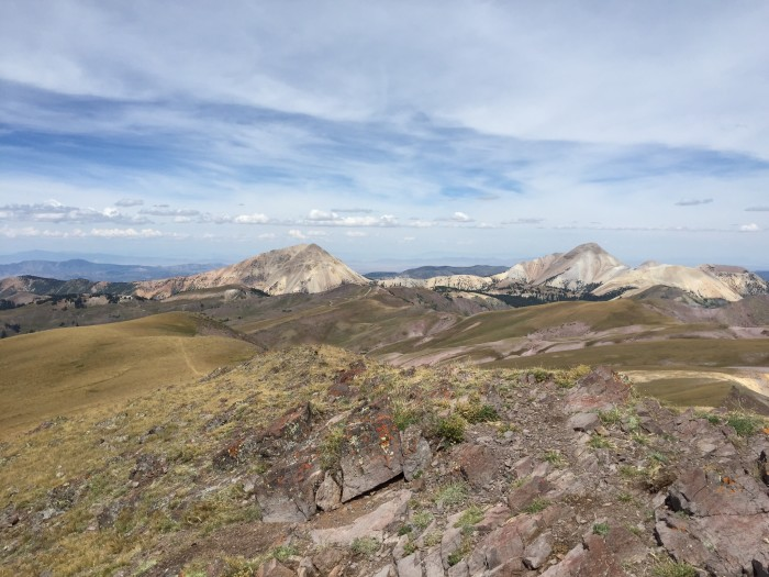 10. Gary Seegmiller took this photo from Delano Peak. You can see Mt. Baldy and Mt. Belknap.