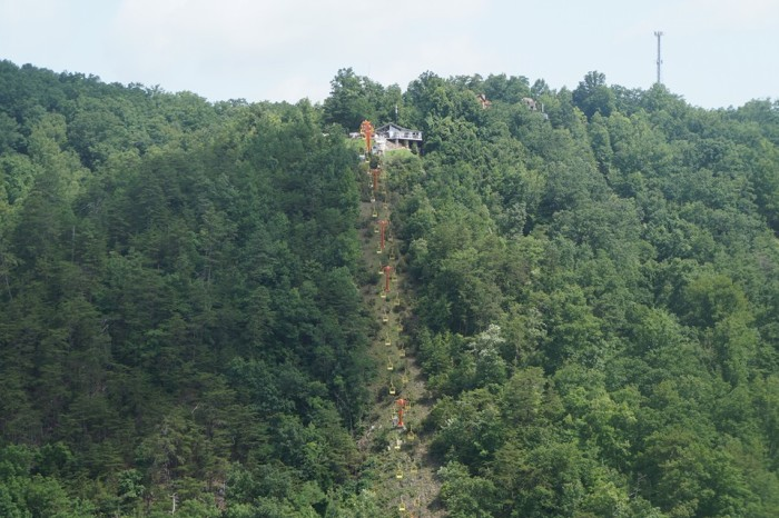 9) Bill Noblitt caught this sick shot of the Sky Lift in Gatlinburg.
