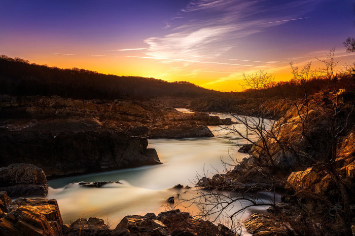 20. First light at Great Falls Park in McLean.