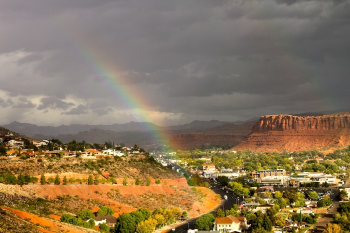 24. If you're wondering where to find the end of the rainbow, Heidi Alsup found it. It's in St. George!