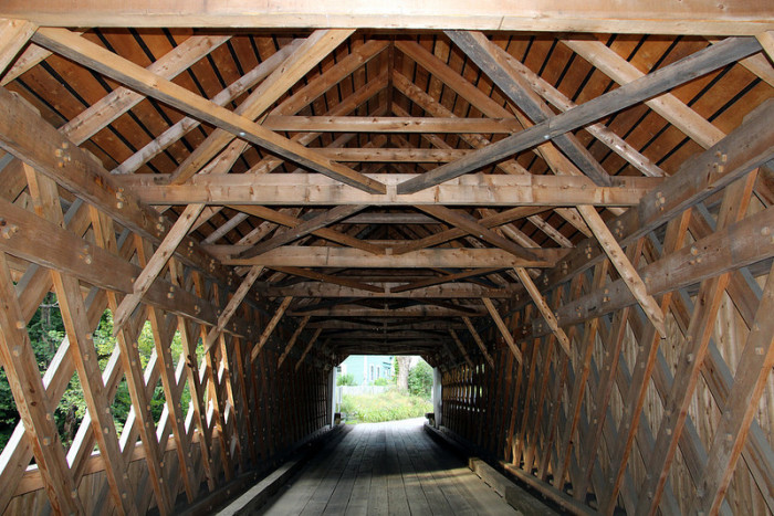 7.  Historic 1859 Williamsville Covered Bridge over the Rock River in Windham County.