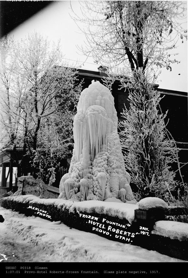 19. 1917: The year the groundskeeper forgot to turn off the water to the fountain before the first freeze.