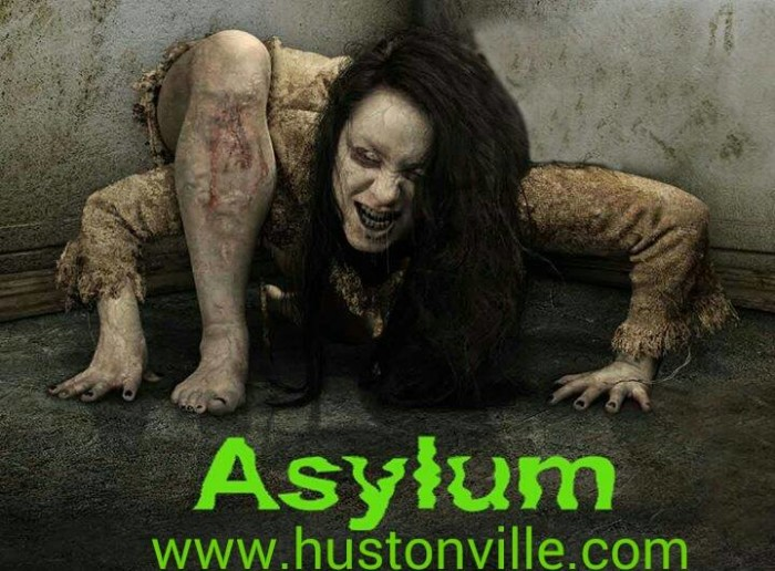 Hustonville Asylum Haunted House contortion.