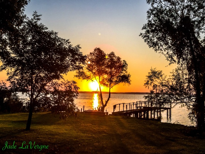 5) Look at that radiant sunrise over North Toledo Bend in Huxley...so peaceful and beautiful.