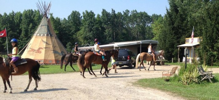 8. Ride with the wind at a local farm or stable.