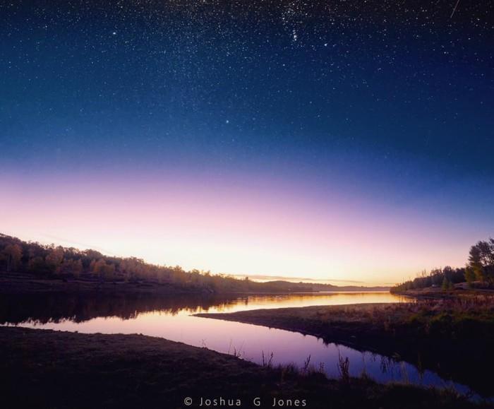 12. Joshua Jones woke up early to snap this gorgeous photo of the sunrise at Kolob Reservoir.